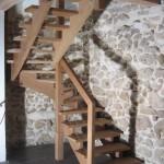 Escalier 2/4 tournant sur crémaillère