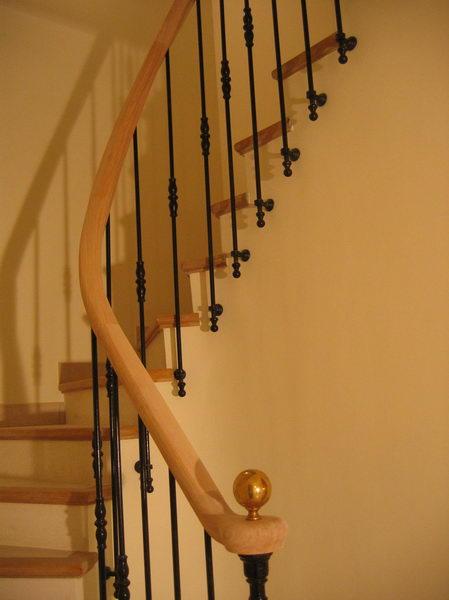 04 08 rampe d billard et fer forg sur escalier ma on. Black Bedroom Furniture Sets. Home Design Ideas
