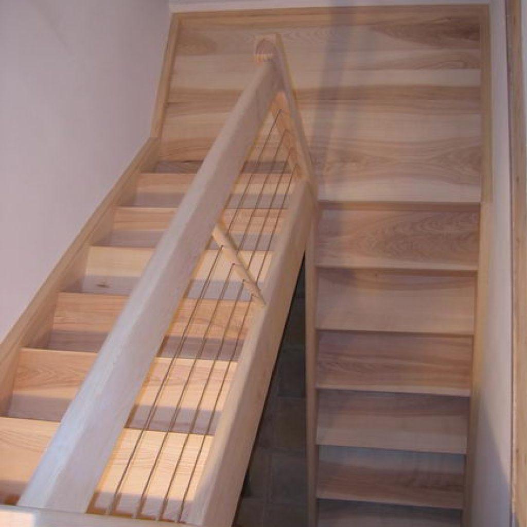 06 01 escalier deux quart tournant avec palier espace bois - Escalier quart tournant avec palier ...