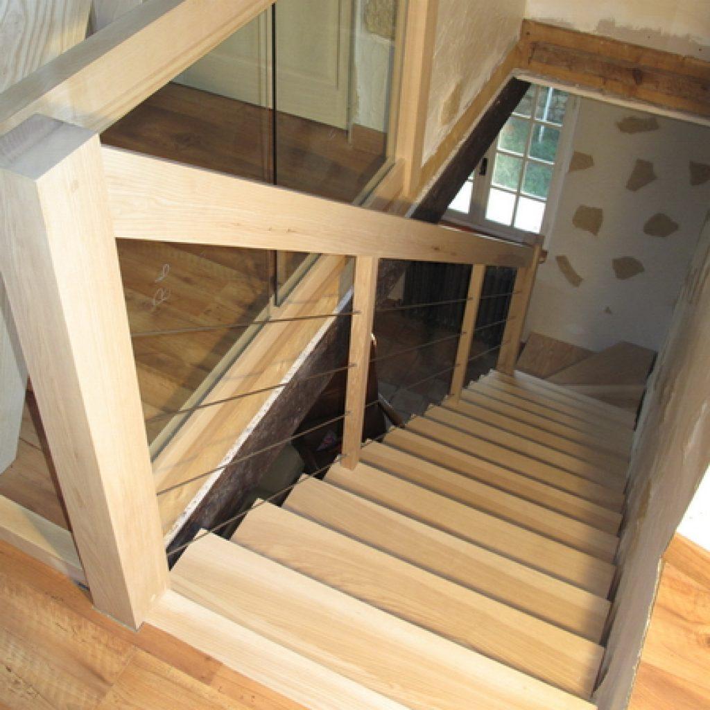 09 12 Escalier En Bois Contemporain 1 4 Tournant Garde